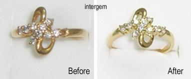 メレーダイヤを留めていた爪が折れて修理