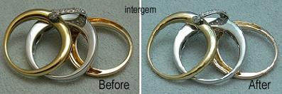 三連三色のリングのサイズ直し