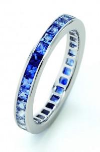 K18WG Blue sapphire