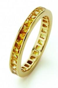 K18YG Yellow sapphire