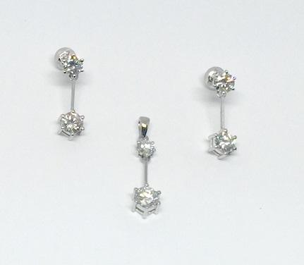 ダイヤモンドペンダントとピアス