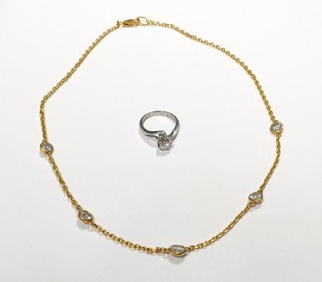 ダイヤモンドネックレスとダイヤモンドリング